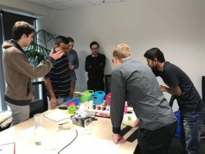 New Endace Interns Puzzle Over Designing a Self-Propelled Vehicle from Found Objects